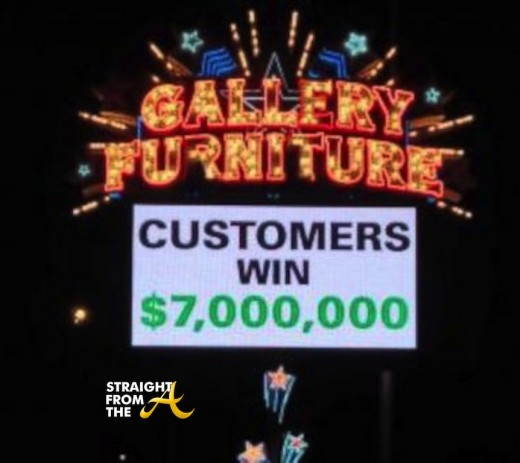 Gallery Furniture Super Bowl Bet 2014