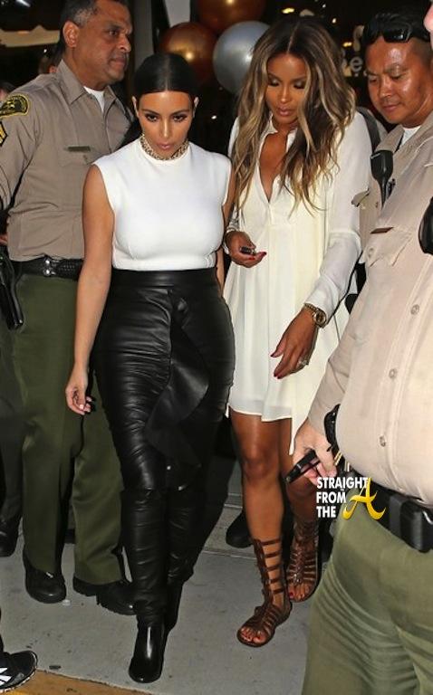 Kim Kardashian and Pregnant Ciara 021314 StraightFromTheA 12