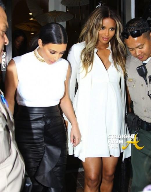 Kim Kardashian and Pregnant Ciara 021314 StraightFromTheA 3