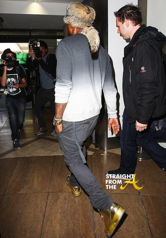 Usher Raymond Furry Hat StraightFromTheA 2014-6