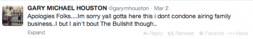 Gary Houston Tweet 2014