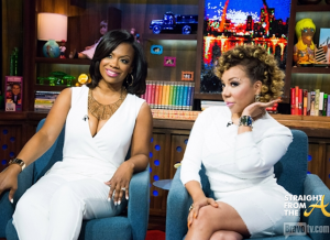 Kandi and Tiny on WWHL StraightFromTheA 2014 5