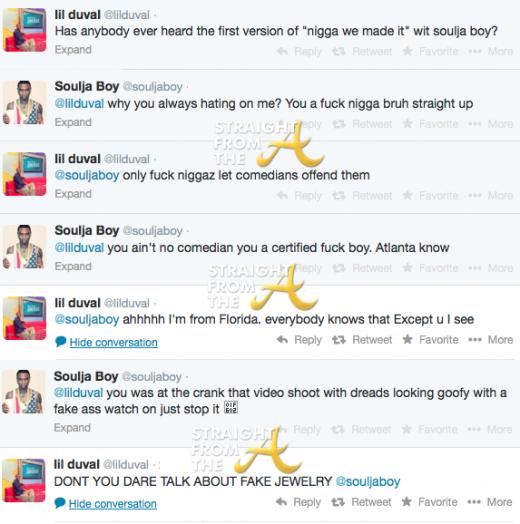 Lil Duval Soulja Boy Twitter Beef StraightFromTheA