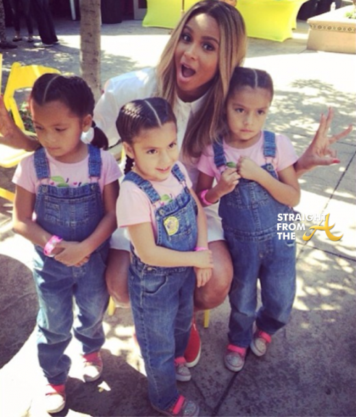 Ciara with Triplets StraightFromTheA 2014