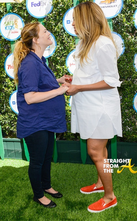 Drew Barrymore and Ciara Pregnant 2014 StraightFromthea 8
