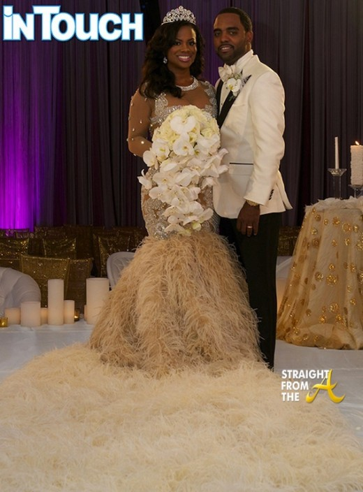 Kandi Burruss Todd Tucker Wedding Photo Dress StraightFromTheA