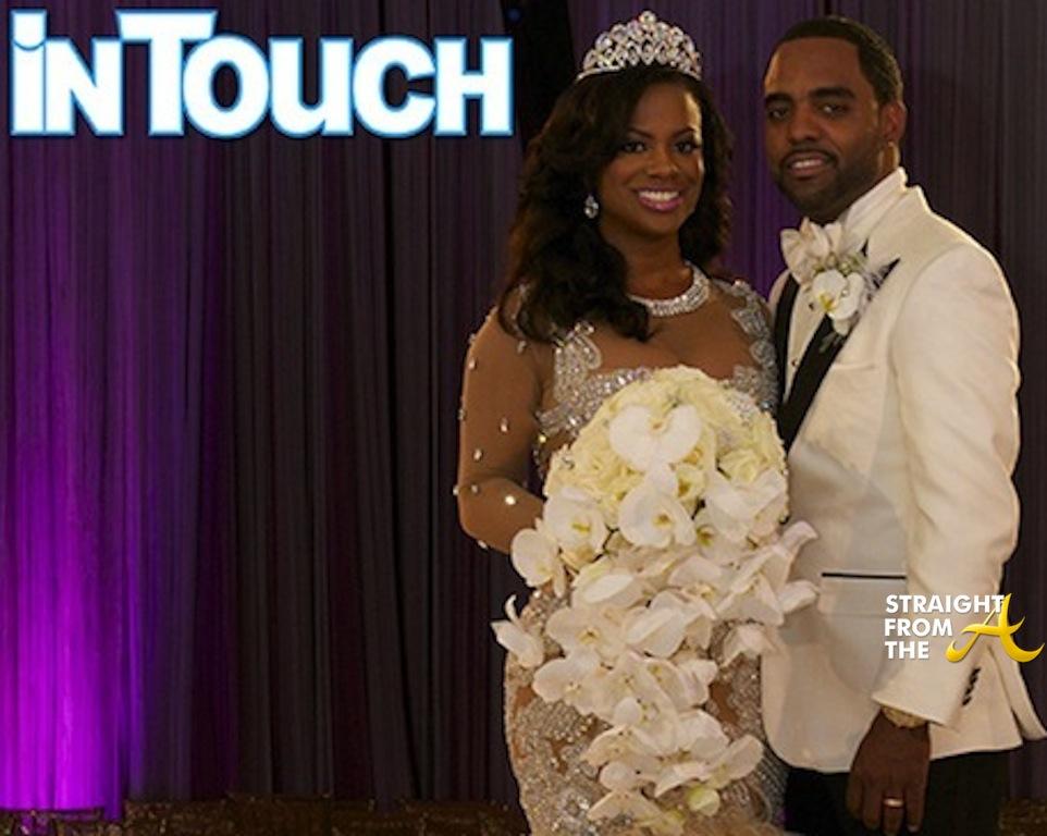 Kandi Burruss Todd Tucker Wedding Photo Dress StraightFromTheA