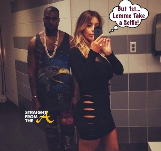 Kim and Kanye Bathroom Selfie