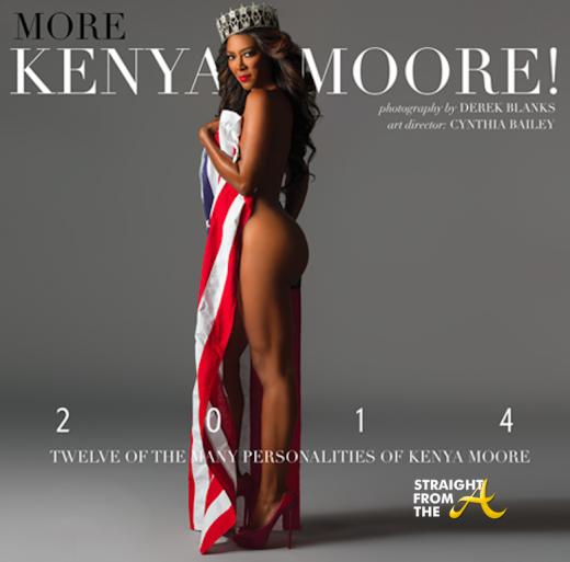 Kenya Moore 2014 Calendar Cover StraightFromTheA