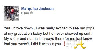 Marquise Jackson 2014 Graduation -  SFTA