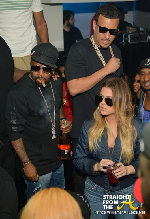 Jermaine Dupri Khloe Kardashian French Montana