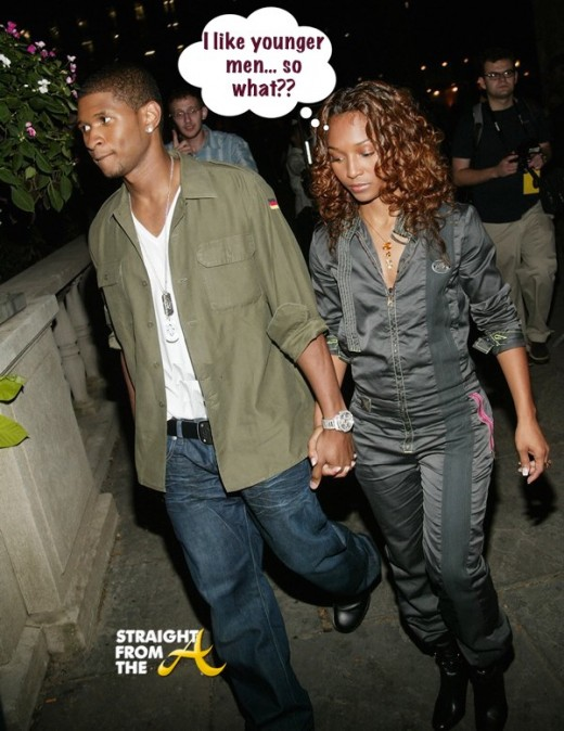 NEW YORK - SEPTEMBER 17:  Singer Usher with girlfriend/singer Rozonda Thomas (Chili from TLC) attend the Diesel StyleLab Spring/Summer 2004 Fashion Show during Mercedes-Benz Fashion Week at Bryant Park September 17, 2003 in New York City.  (Photo by Evan Agostini/Getty Images)