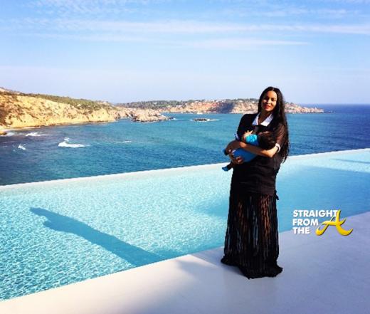 Ciara and Baby Future in Ibiza - StraightFromTheA
