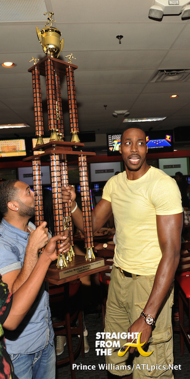 Dwight Howard and LudaDay Bowling Trophy 2014