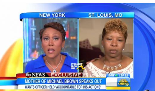 Robin Roberts Michael Brown's Mother - ABC News 1