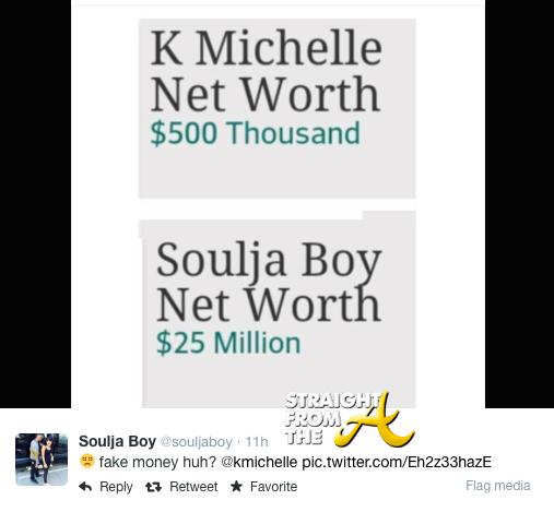 Soulja Boy v K. Michelle Twitter 3