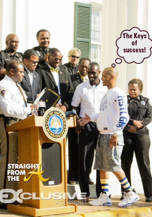 T.I Gets The Key To Jackson, Ms. (2 of 10)