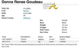 Donna Goudeau Prison Sentence StraightFromTheA