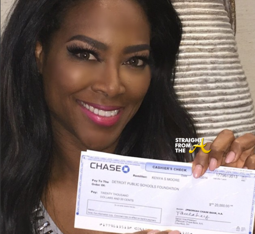 Kenya Moore DPS Donation