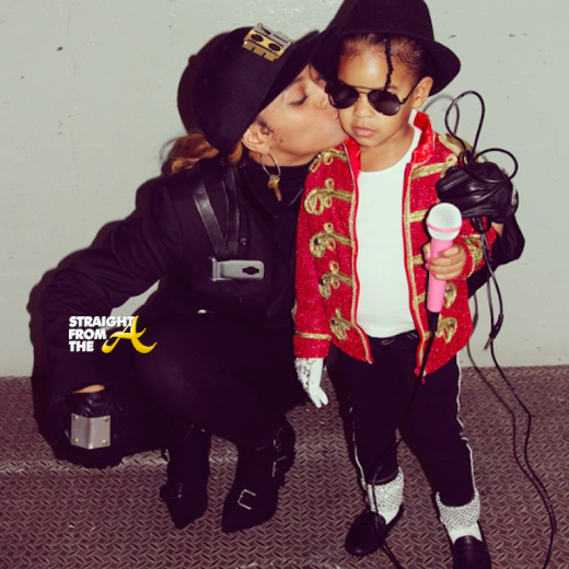 Beyonce and Blue Ivy - Halloween 2014