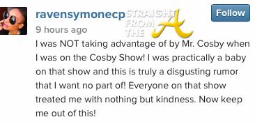 Raven Symone Cosby Response 2014