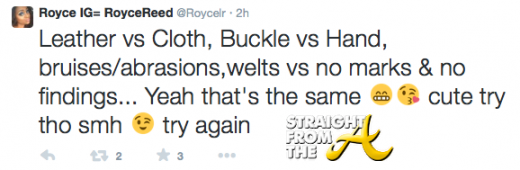 Royce Reed Tweet