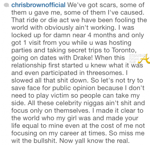 Chris Brown Instagram Heartbreak - StraightFromTheA