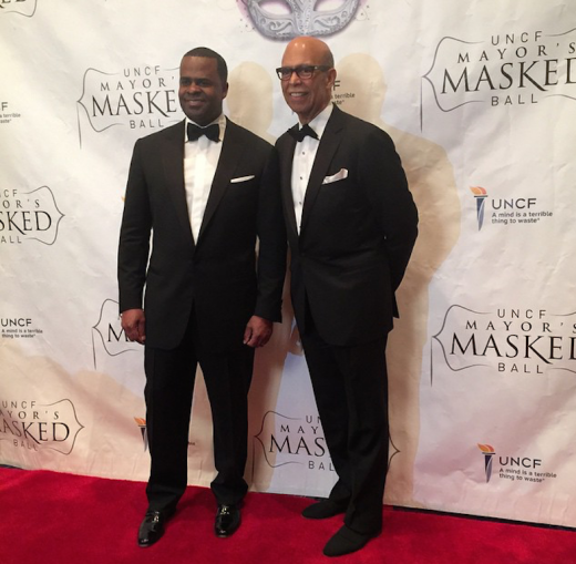Kasim Reed and UNCF Pres Michael Lomax