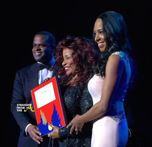 Mayor Reed & 1st Lady Sarah-Elizabeth Present Chaka Khan w Phoenix Award