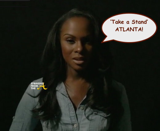 Tika Sumpter - Take A Stand Campaign - StraightFromTheA