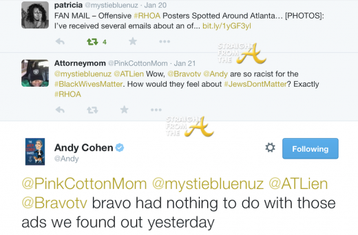 Andy Cohen Response