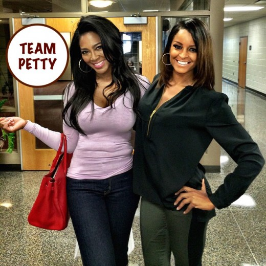 Team Petty - RHOA Kenya Moore Claudia Jordan