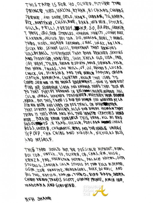 Drake Note - SFTA