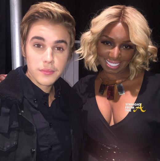 Nene Leakes Justin Bieber NYFW 2015