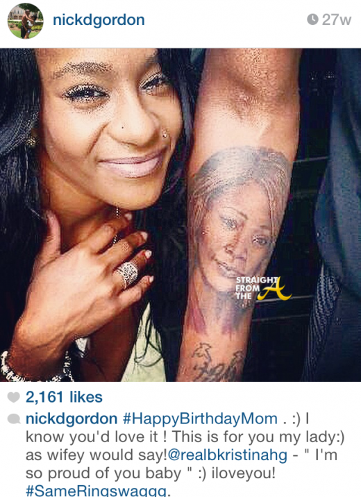 Nick Gordon Tattoo 2014