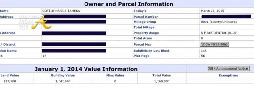 Tameka Cottle Harris Tax Records