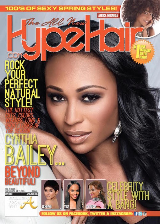 Cynthia Bailey Hype Hair April:May 2015
