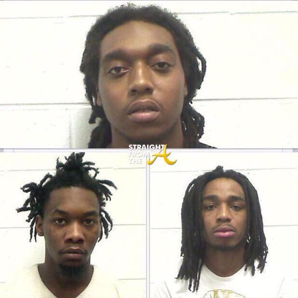 Mugshot Mania Rap Trio Migos Arrested On Felony Gun Drug