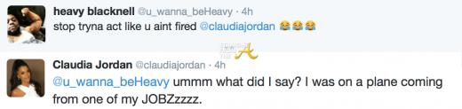 Claudia Jordan Tweet