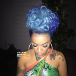 Keyshia Cole Blue Hair 2