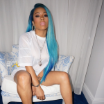 Keyshia Cole Blue Hair 2015 1