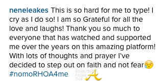 Nene Leakes IG Message