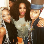 Kelly Rowland Poses with Erykah Badu and her sister - 2015 Essence Music Festival