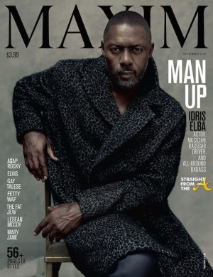 Idris Elba Maxim 2015 - Cover