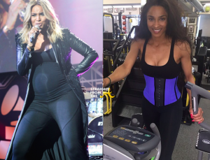 Ciara before and after - 60lb pregnancy weight loss