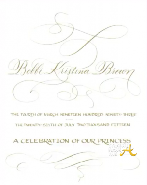 Bobbi Kristina Funeral Program
