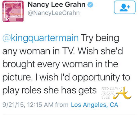 Nancy lee Grahn Tweet 3