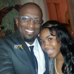 Rickey Smiley and Daughter 2014