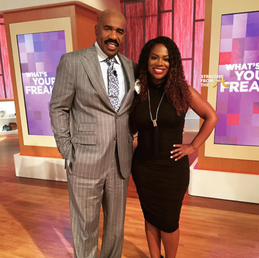 Steve Harvey Kandi Burruss 1