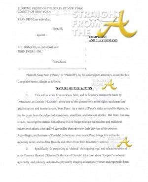 Sean Penn Lawsuit (CLICK TO READ FULL DOCUMENTS)
